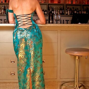 Back of Absinthe gown by GLAMAZON
