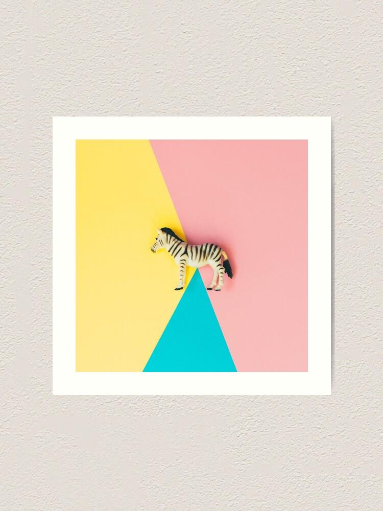Alternate view of Wild zebra Art Print