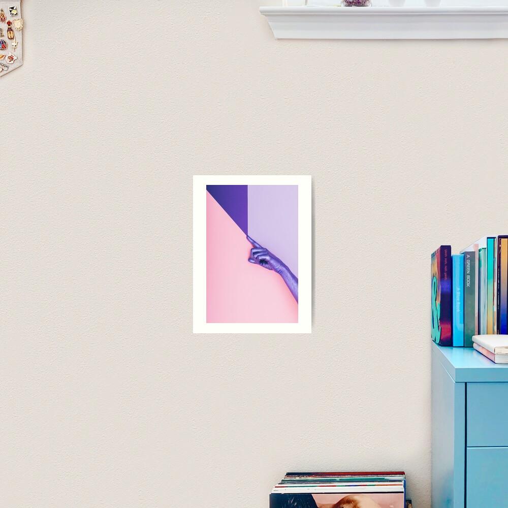 The Purple Hand Art Print