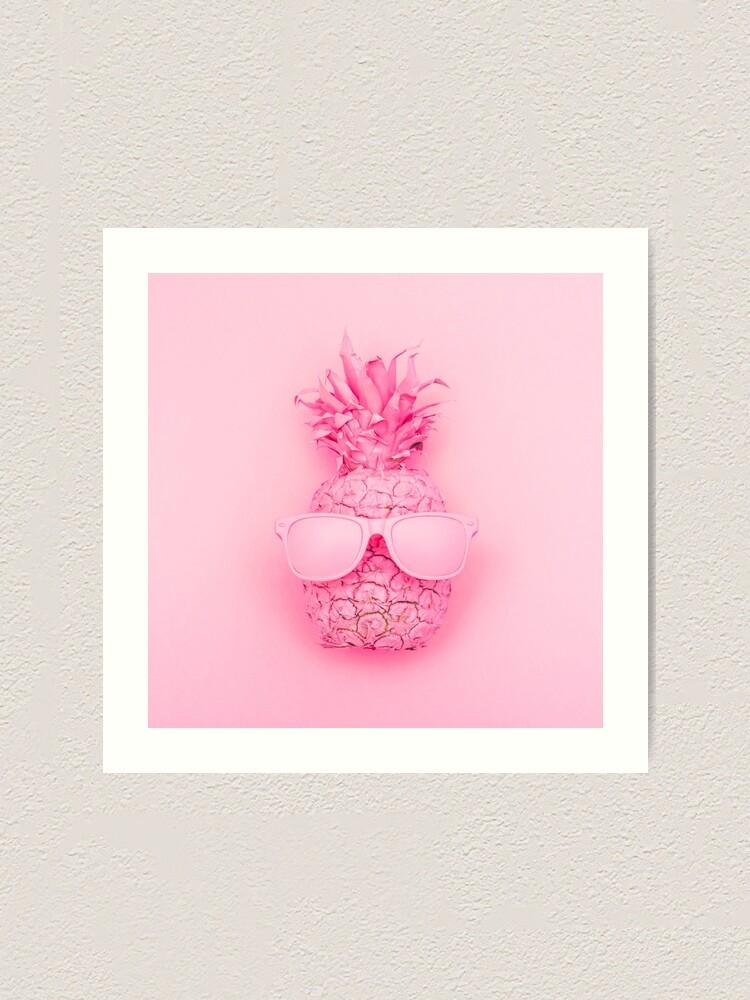 Alternate view of Pink Pineapple Art Print
