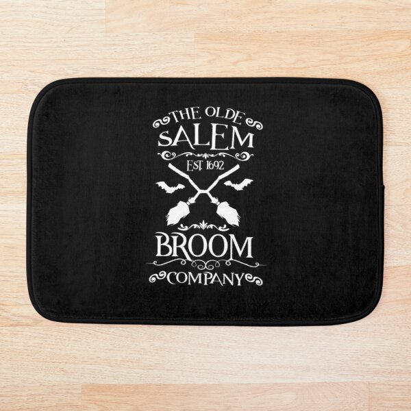 The Olde Salem Broom Company Halloween Witches Spell Halloween Shirt Trick Or Treat Witch Broom Funny Halloween Witch Halloween Shirts Gift For Her Witch Shirt Fall Shirts Bath Mat