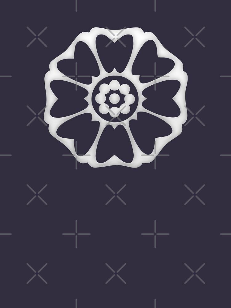 White Lotus Symbol Unisex T Shirt A T Shirt Of White Order