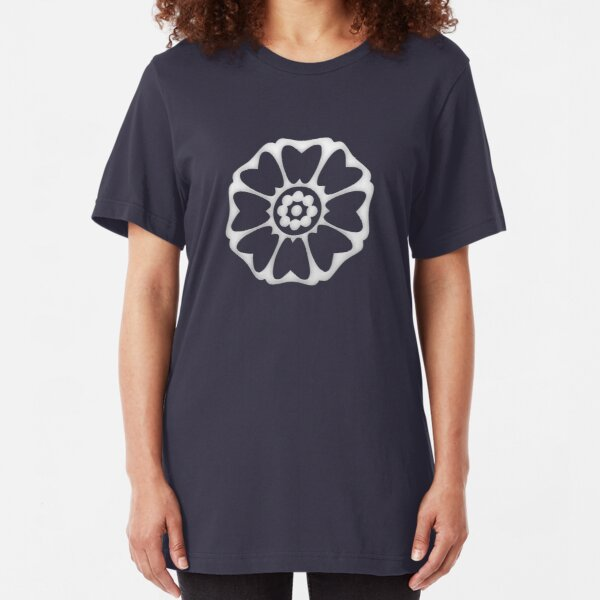 White Lotus Symbol Slim Fit T-Shirt