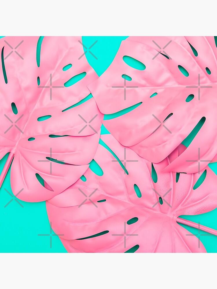 Pink Monstera Leaves by KatyaHavok