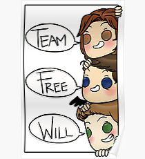 Team Free Will Speech Bubble Poster