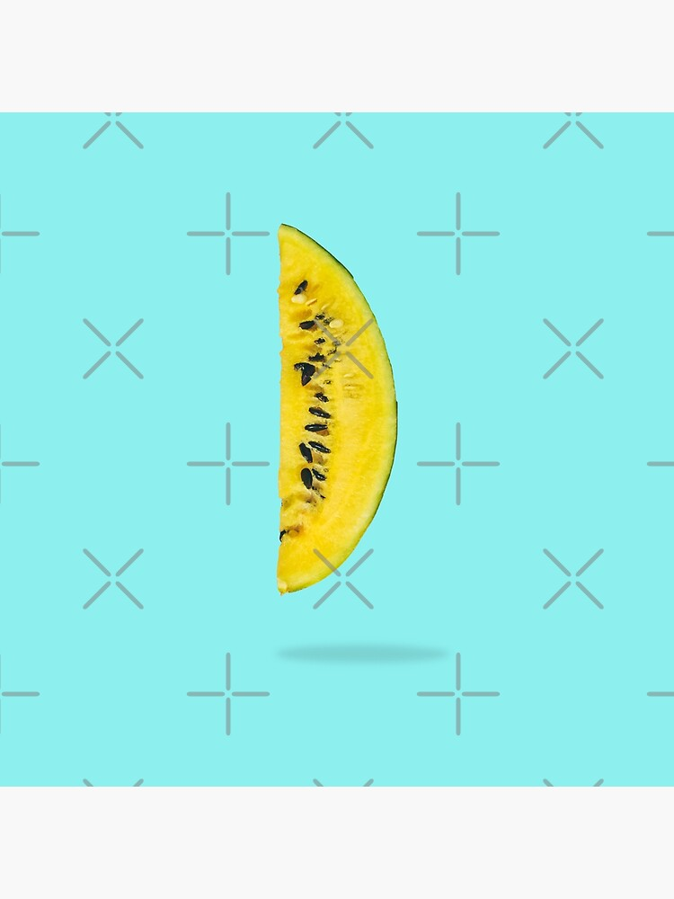 Yellow watermelon slice floating in the air  by KatyaHavok