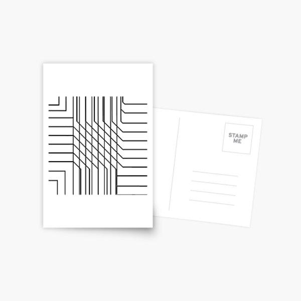 Illusion,  line art Postcard