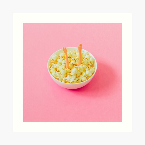 Popcorn Art Art Print
