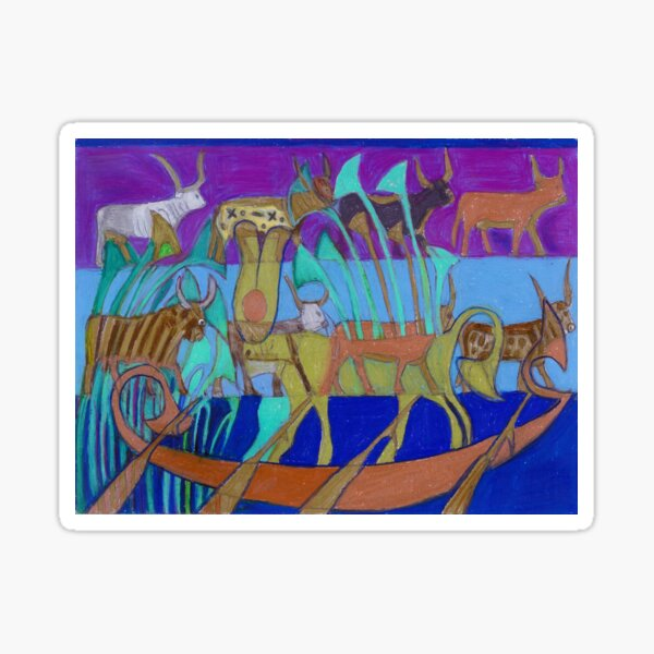 Eight Holy Cows Sticker