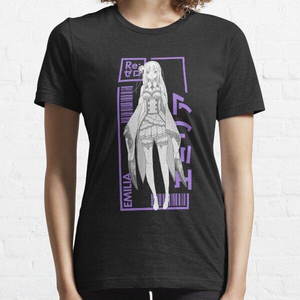Emilia - Re:Zero - Typography 1 Essential T-Shirt