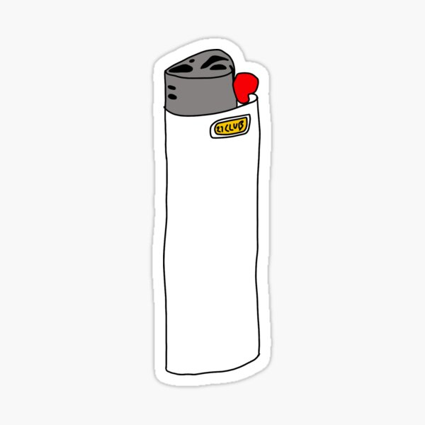 27 club white lighter Sticker