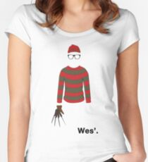 Wes'. Women's Fitted Scoop T-Shirt