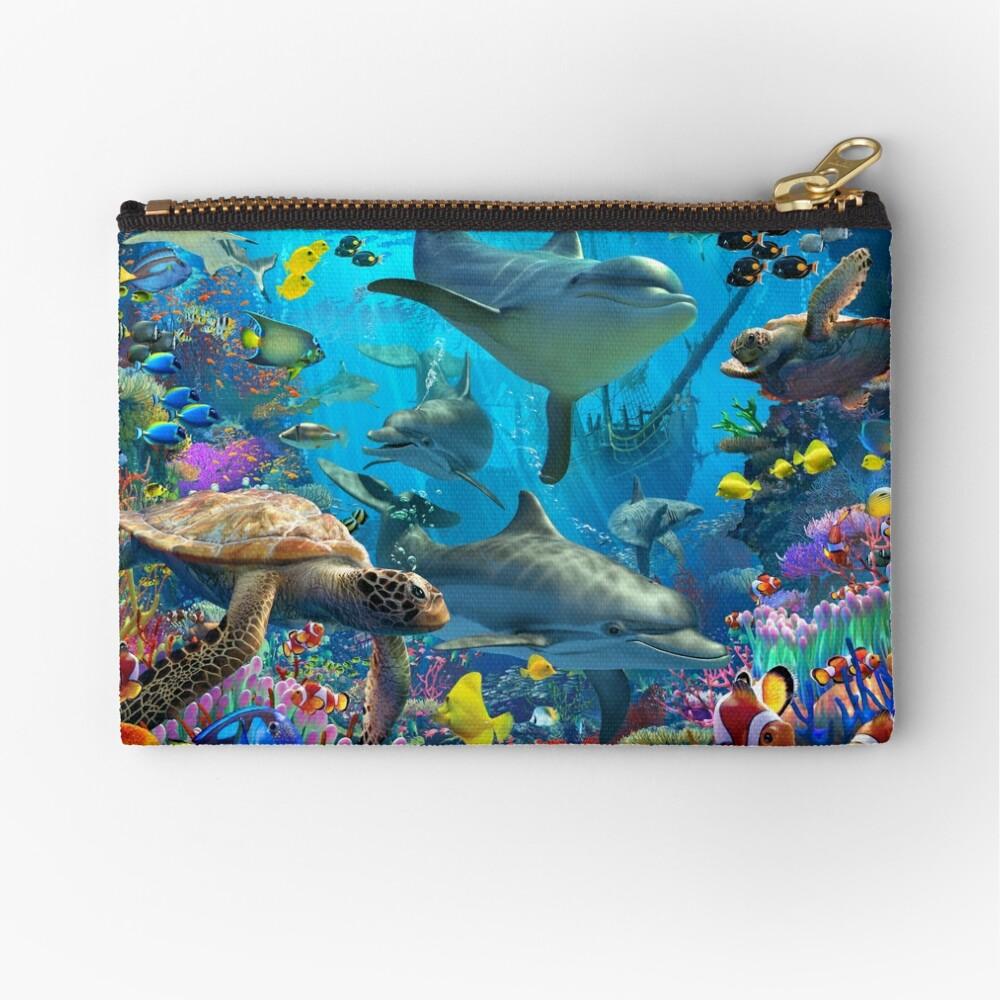 Dolphin Playground Zipper Pouch