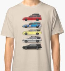 Stack of Volvo 850R 855R T5 Turbo Station Wagons Classic T-Shirt