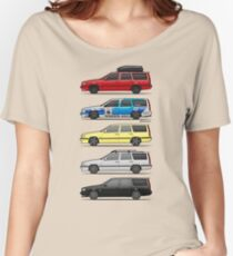 Stack of Volvo 850R 855R T5 Turbo Station Wagons Women's Relaxed Fit T-Shirt