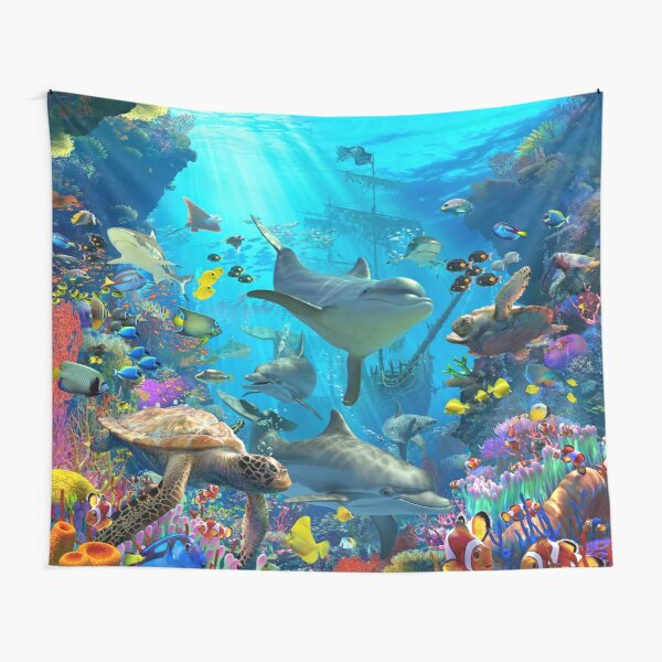Dolphin Playground Tapestry