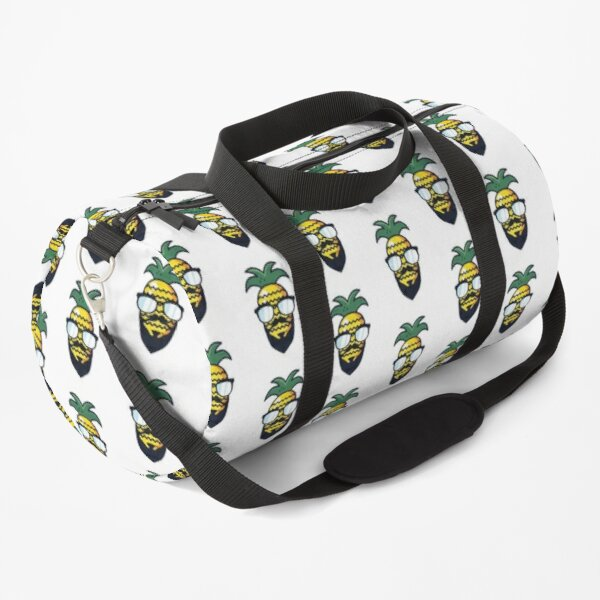 Hipster Pineapple with sunglasses and beard Duffle Bag