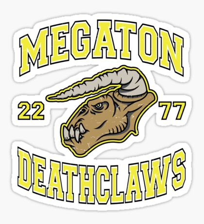 Megaton Deathclaws Sticker