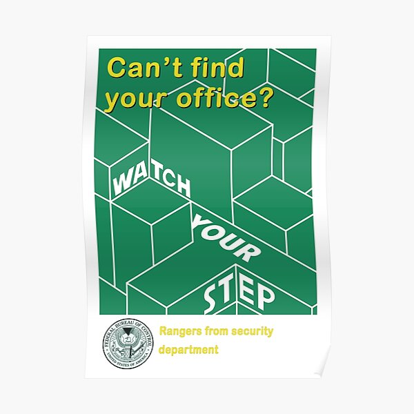 Federal Bureau of Control Advisory Poster 1 Poster