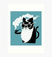 Whiskers And Pipe Art Print