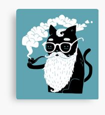 Whiskers And Pipe Canvas Print