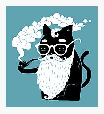 Whiskers And Pipe Photographic Print