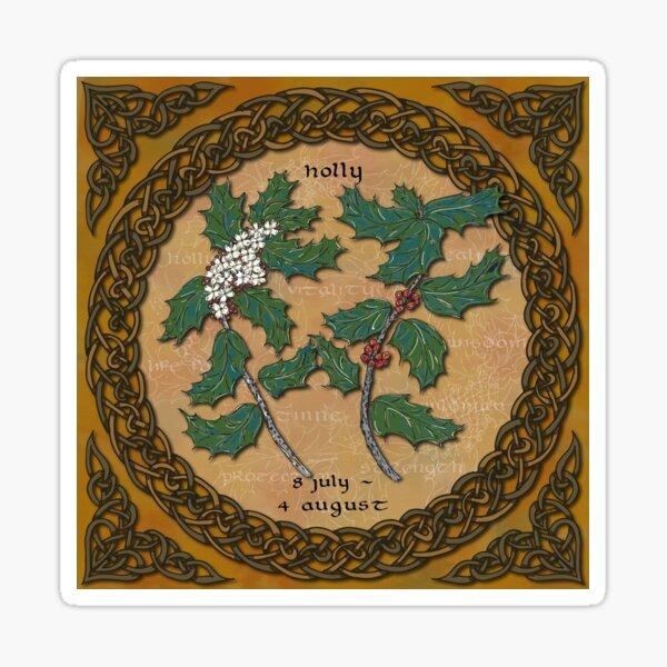 Celtic Tree Calendar - Holly Sticker