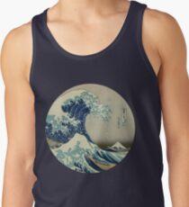 Camiseta de tirantes Gran ola fuera del círculo de Kanagawa