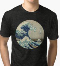 Große Welle vor Kanagawa-Kreis Vintage T-Shirt