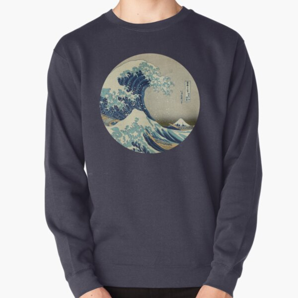 Great Wave off Kanagawa circle Pullover Sweatshirt