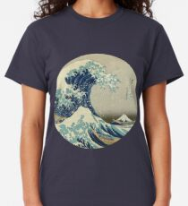 Grande vague au large du cercle de Kanagawa T-shirt classique