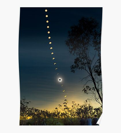 Solar Eclipse Composite 2012 Poster