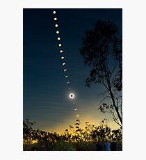 Solar Eclipse Composite 2012 Photographic Print