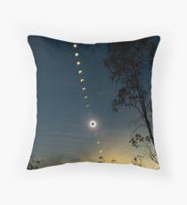 Solar Eclipse Composite 2012 Throw Pillow