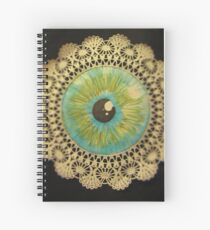 Delicate Eye Lace Spiral Notebook