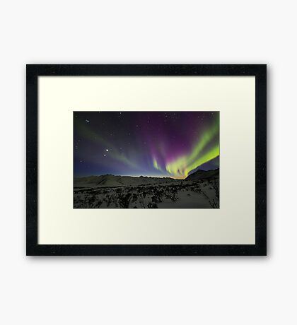 Yukon Northern Lights 3 Framed Print