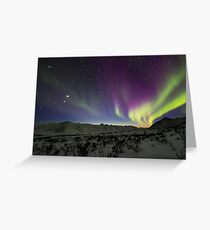 Yukon Northern Lights 3 Greeting Card