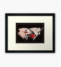 Ali Kat Hand made 1959 Cadillac Guitar Framed Print