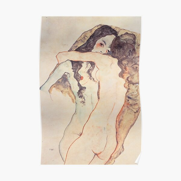 Two girls Egon Schiele Poster