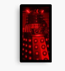 Red Dalek Canvas Print