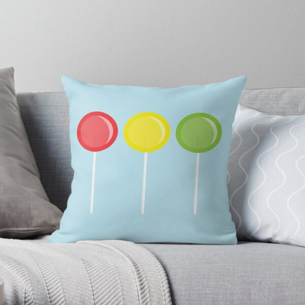 Lollipop lollipop Throw Pillow