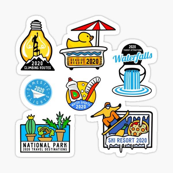Year 2020 Travel Destinations Sticker