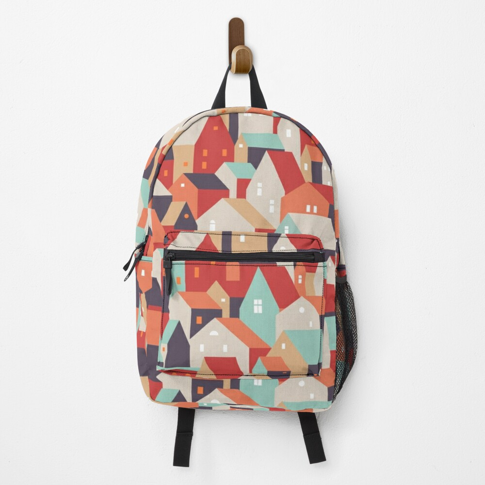 Little town. Backpack