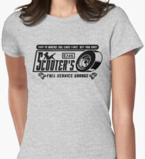 Scooter's Workshop v2 Women's Fitted T-Shirt