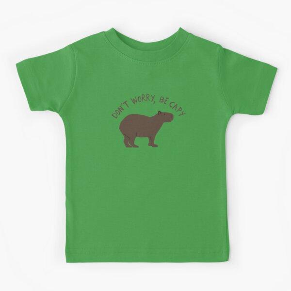 Don't Worry, Be Capy (Capybara) Kids T-Shirt