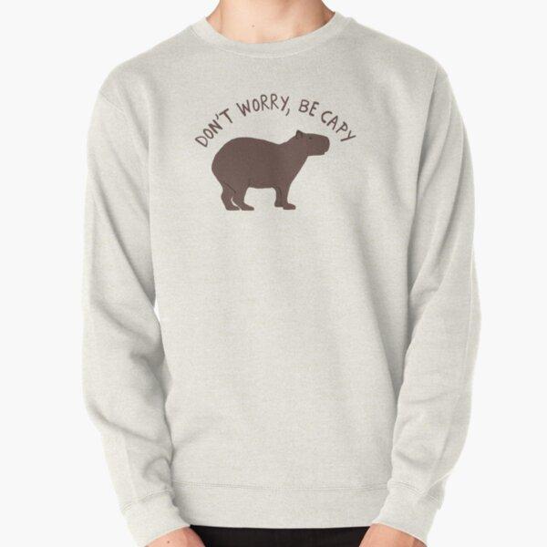 Don't Worry, Be Capy (Capybara) Pullover Sweatshirt