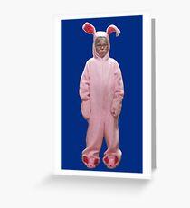 Ralphies rosa Albtraum Grußkarte