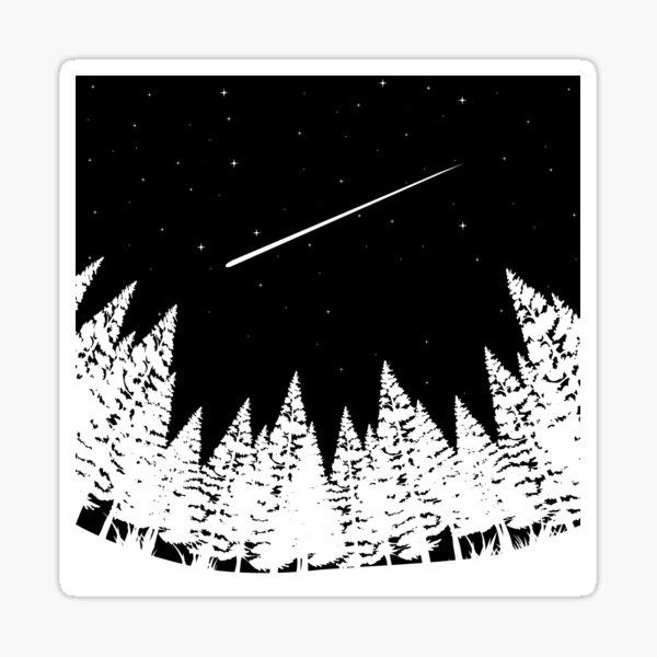 Meteor Shower Astronomy Art Sticker