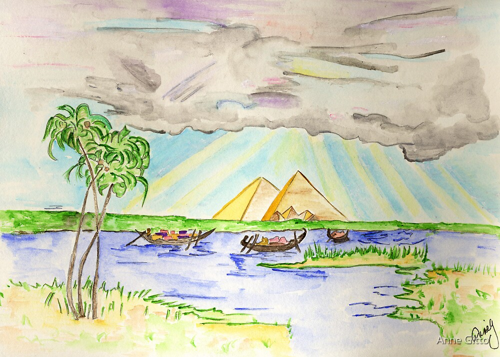 Pyramids of Egypt by Anne Gitto