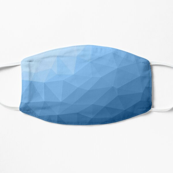 Classic Blue geometric mesh ombre pattern Mask